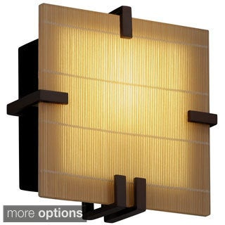 Justice Design 3Form Clips 1-light Square Wall Sconce