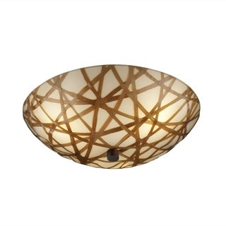 Justice Design 3Form 3Form 3-light Round Semi-flush Mount