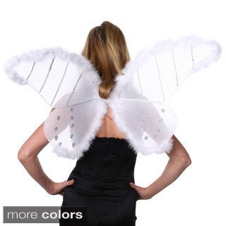 Pink Turkey Marabou Feather Wings