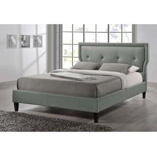 Clay Alder Home Mildred Upholestered Grey Fabric Platform Bed