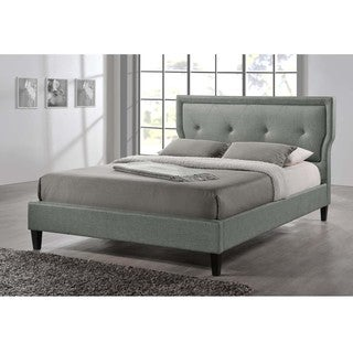 Baxton Studio King Size Russo Modern Tufted Grey Platform Bed