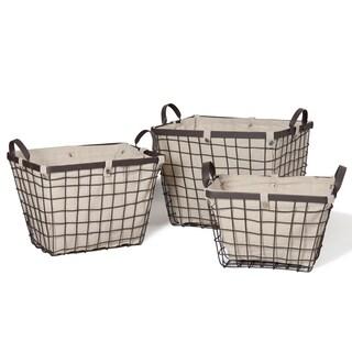 Rectangular Urban Style Baskets (Set of 3)
