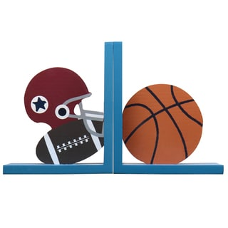 Child's Football and Basketball Wood Bookends (Set of 2)