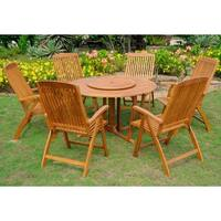 International Caravan Royal Tahiti 'Aragon' Yellow Balau Hardwood 8-piece Dining Set