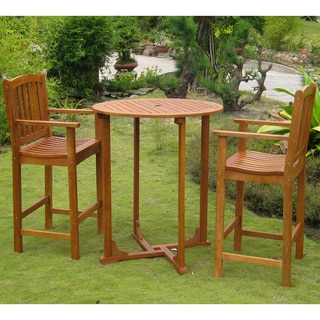International Caravan Royal Tahiti 'Sagunto' Yellow Balau Hardwood 3-piece Bistro Set