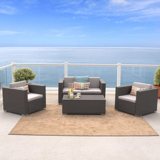 Murano 4-piece Outdoor Wicker Sofa Set by Christopher Knight Home