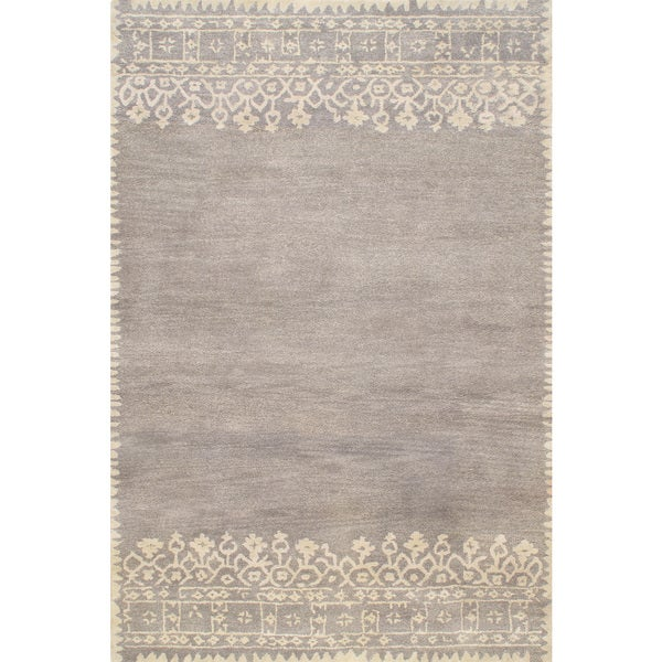Hand Tufted Modern Desa Gray Wool Area Rug 8 X10 Free