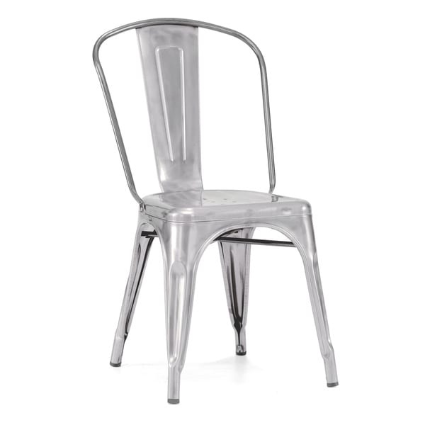 Amalfi Stackable Galvanized Steel Dining Chair Set Of 4