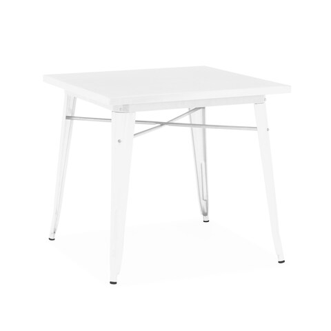 Amalfi Glossy White Steel Dining Table 30 Inch