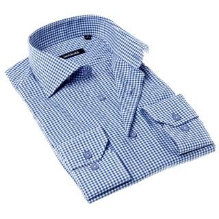 Georges Rech Men's Orange Solid Button-up Dress Shirt
