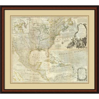 Rectangle map framed prints for less overstock framed art print composite north america 1776 by thomas jefferys 38 x sciox Images