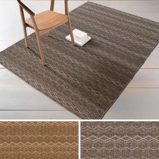 Machine-made Peyton Striped Indoor/ Outdoor Olefin Rug (2'2 x 3'4)