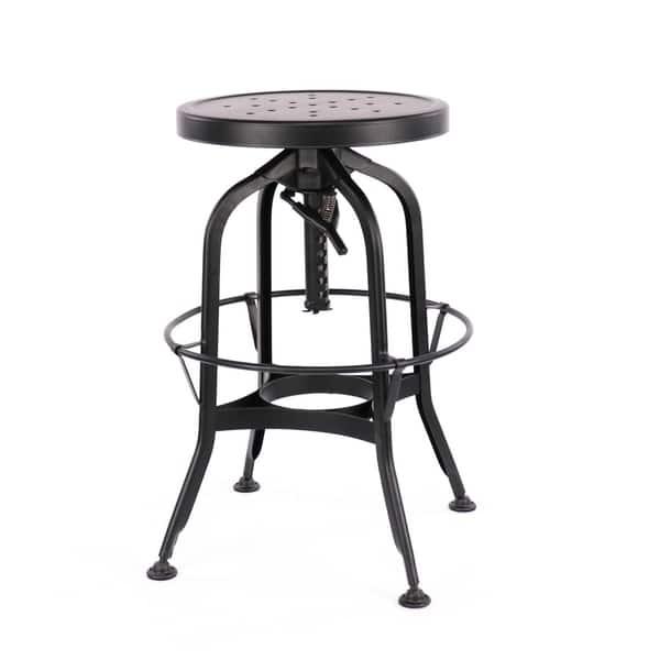 Astonishing Shop Toledo Adjustable Black Steel Bar Stool 25 29 Inch On Lamtechconsult Wood Chair Design Ideas Lamtechconsultcom