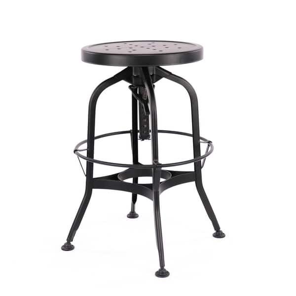 Fabulous Shop Toledo Adjustable Black Steel Bar Stool 25 29 Inch On Lamtechconsult Wood Chair Design Ideas Lamtechconsultcom