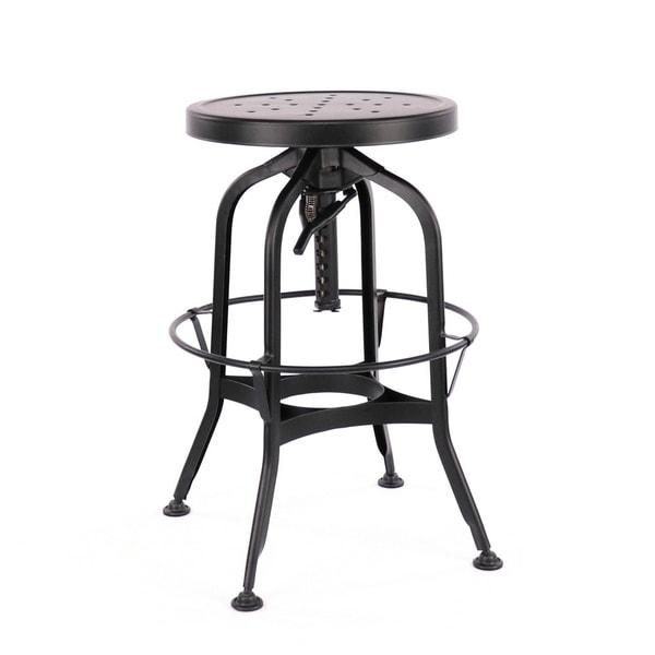 Shop Toledo Adjustable Black Steel Bar Stool 25 29 Inch Free