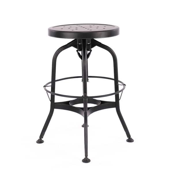 Awesome Shop Toledo Adjustable Black Steel Bar Stool 25 29 Inch On Lamtechconsult Wood Chair Design Ideas Lamtechconsultcom