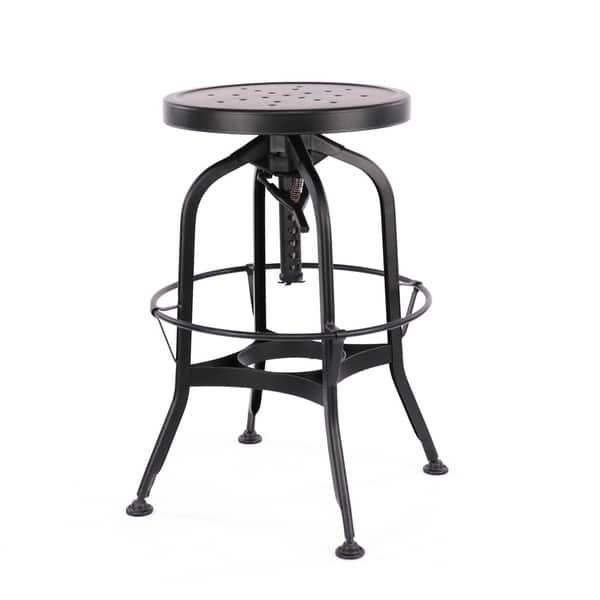 Enjoyable Shop Toledo Adjustable Black Steel Bar Stool 25 29 Inch On Lamtechconsult Wood Chair Design Ideas Lamtechconsultcom