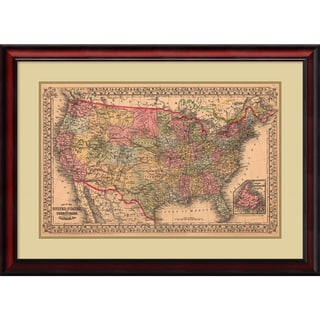 Ward Maps 'Map of the United States, 1867' Framed Art Print 32 x 24-inch