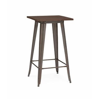 Amalfi Rustic Matte Elm Wood Top Steel Bar Table 42 Inch|https://ak1.ostkcdn.com/images/products/9643802/P16827723.jpg?impolicy=medium