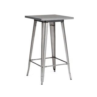 Amalfi Gunmetal Steel Bar Table 42 Inch