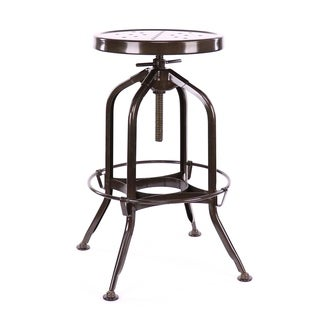 Toledo Adjustable Rustic Bar Stool