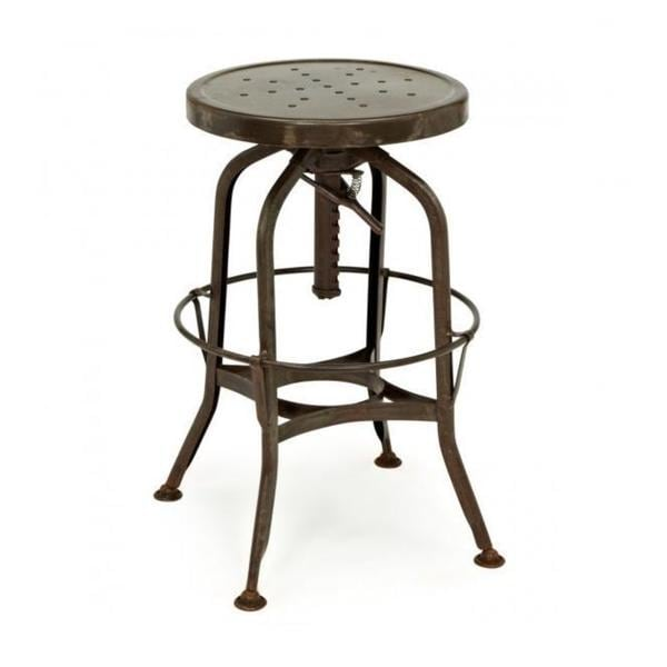 Toledo Adjustable Rustic Bar Stool Free Shipping Today