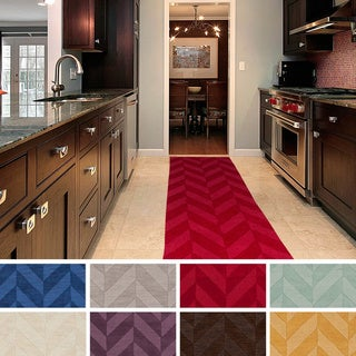 Hand-Woven Ann Tone-on-Tone Zig-Zag Wool Area Rug