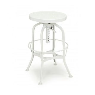 Toledo Adjustable White Bar Stool