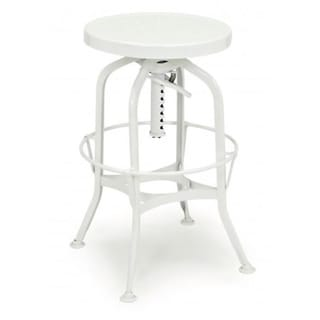 Toledo Adjustable White Bar Stool Free Shipping Today