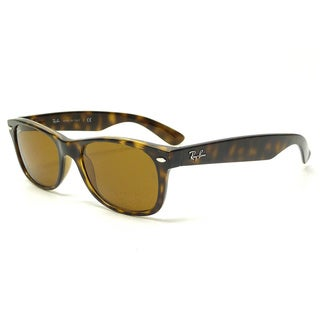 Ray-Ban New Wayfarer RB2132 710 Unisex Tortoise Frame Brown Lens Sunglasses