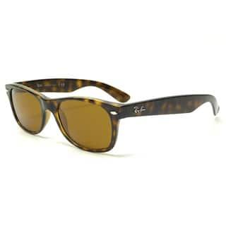 Ray-Ban New Wayfarer RB2132 710 Unisex Tortoise Frame Brown Lens Sunglasses|https://ak1.ostkcdn.com/images/products/9643861/P16827771.jpg?impolicy=medium