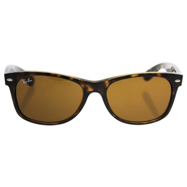 Ray-Ban New Wayfarer RB2132 710 Unisex Tortoise Frame Brown Lens Sunglasses
