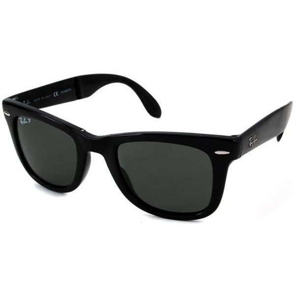 a7bbfaa96c2 Ray-Ban Wayfarer Folding RB 4105 Unisex Black Frame Green Polarized  Sunglasses