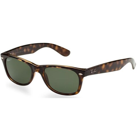 Ray-Ban New Wayfarer RB2132 Men Tortoise/Green Polarized Sunglasses