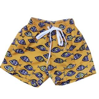 Azul Swimwear Orange Fish Eye Boys' Swim Shorts