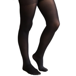 Coquettes Silky Opaque Light Control Top Nero Tights (Pack of 6)