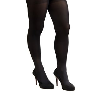 Coquettes Nero Silky Opaque Total Control Top Tights (Pack of 6)