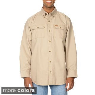 Stanley Men's Long Sleeve Twill Shirt (Option: Khaki)
