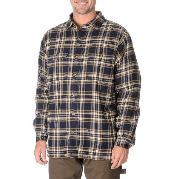 Stanley men 39 s fleece lined flannel shirt free shipping for Mens insulated flannel shirts