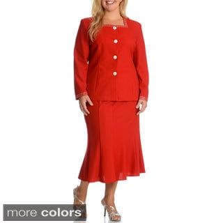 Mia-Knits Collection Women's Plus Size Skirt Suit