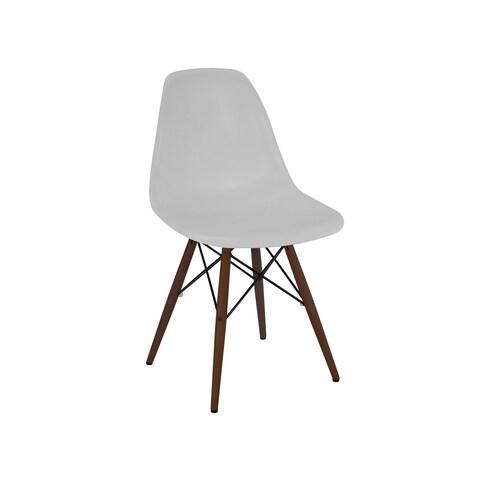 Trige Platinum Mid Century Side Chair Walnut Base (Set of 5)