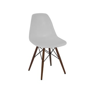 Trige Platinum Mid Century Side Chair Walnut Base (Set of 5)
