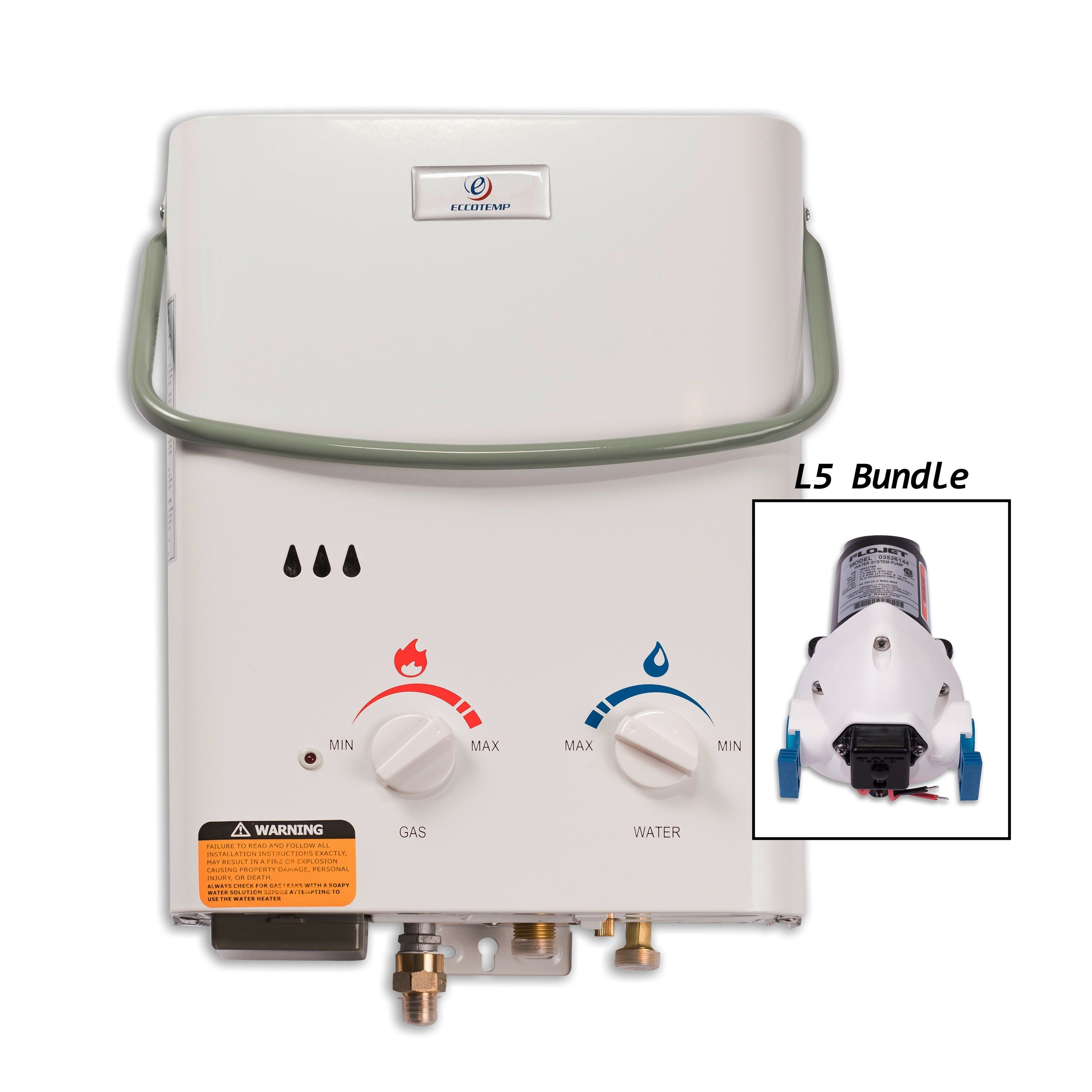 Eccotemp L5 Tankless Water Heater with Flojet Pump (Color...