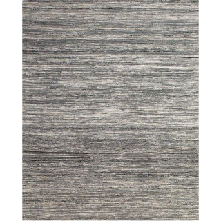 Grand Bazaar Hand Woven Viscose Dabney Area Rug in Gray (3'6 x 5'6)