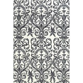 "Grand Bazaar Karlin Slate / White Area Rug (3'6"" x 5'6"") - 3'6 x 5'6"