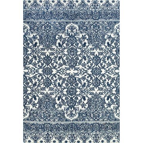"Grand Bazaar Karlin Indigo / White Area Rug - 3'6"" x 5'6"""