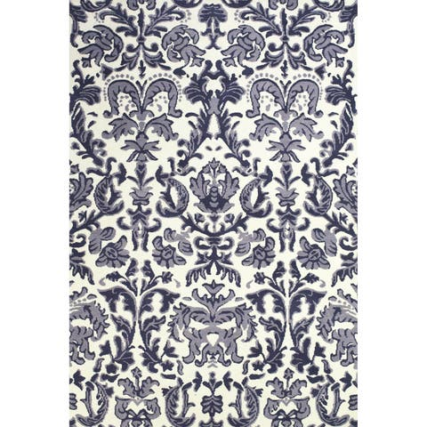 """Grand Bazaar Power Loomed Polyester Pia Rug in Lilac / White 3'-6"""" x 5'-6"""" - 3'6"""" x 5'6"""""""