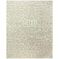 Grand Bazaar Hand-knotted Wool & Art Silk Radiance Rug in Ivory - 4' x 6'