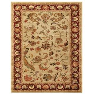 Grand Bazaar Tufted Wool Pile Adair Rug in Ivory/ Red (2' x 3')