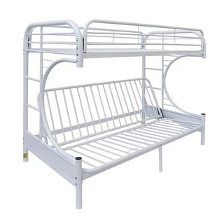 Eclipse White Twin/ Full Futon Bunk Bed